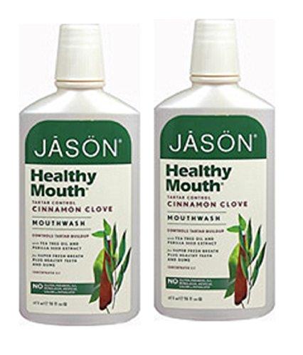 Jason® Healthy Mouth® Tea Tree & Cinnamon Mouthwash, 16 Oz Liquid, 2 Bottles