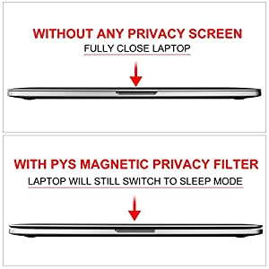 MacBook Pro 13 Screen Privacy, Webcam Cover Slider - Magnetic Privacy Screen Compatible with MacBook Pro 13.3 inch(Late 2016-2019 Including Touch Bar Models)-Anti Glare[Easy On] (Color: black, Tamaño: 13.3-inch MacBook Pro(mid2016-2019))