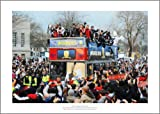 Swansea City 2013 Capital One Cup Winners Open Top Bus Celebrations Photo Memorabilia