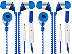 JIYANSHI combo of stylish zipper earphone blue Compatible with Samsung Galaxy Ace S5830