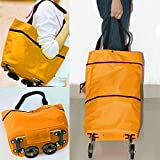 #7: Flying Birds Lightweight Shopping Trolley Wheel Folding Travel Luggage Bag