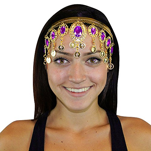 Hip Shakers Gold Crown Belly Dance Headband Headpiece Jewelry Party