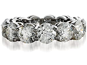 Karina B(tm) Round Diamond All Around Band in Platinum 950 Size 4.5