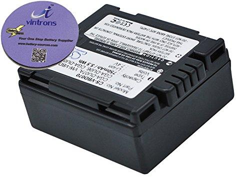 750 mAh Akku für Panasonic NV-GS320E-S, NV-GS30B, VDR-M70B, PV-GS29, VDR-D400