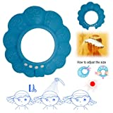 BESTEK drain stopper hat shampoo cap bath hat shower cap baby shower accessories baby hair shampoo and body wash (with ultra-adjustable hook loop, blue)