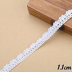New 1cm /1.1cm /1.5cm /2cm Width Various Styles White Cotton Lace Belt Decoration Ribbon For DIY Scrapbooking Decoration(12m Length) 7