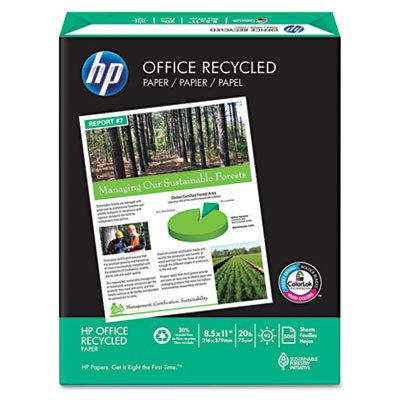 HP Office Recycled White 8 1/2 x 11 Inch Paper