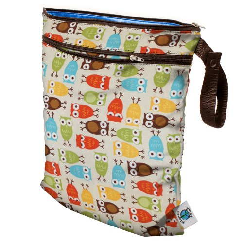 Planet Wise Wet/Dry Diaper Bag - Owl