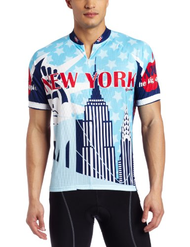 Buy Low Price Canari Cyclewear Men's New York Short Sleeve Cycling  Jersey (12138 M NEW YORK JERSEY)