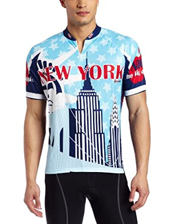 Buy Canari Cyclewear Mens New York Short Sleeve Cycling Jersey by Canari Cyclewear