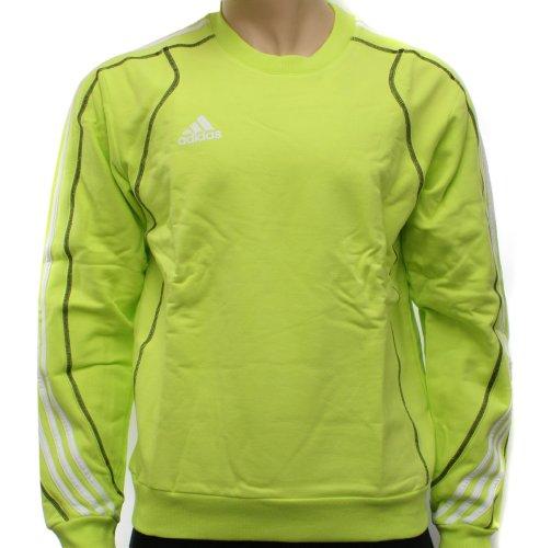 Adidas Mens Lime Crew Sweatshirt Top Size L