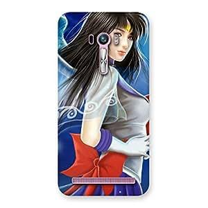 Delighted Angel Looks Print Back Case Cover for Zenfone Selfie