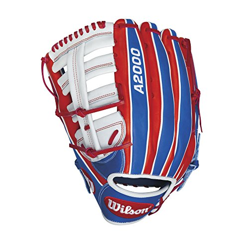 Wilson A2000 CL22 Merica Slow-Pitch Softball Glove, Red/White/Navy, Right Hand Thrower, 13