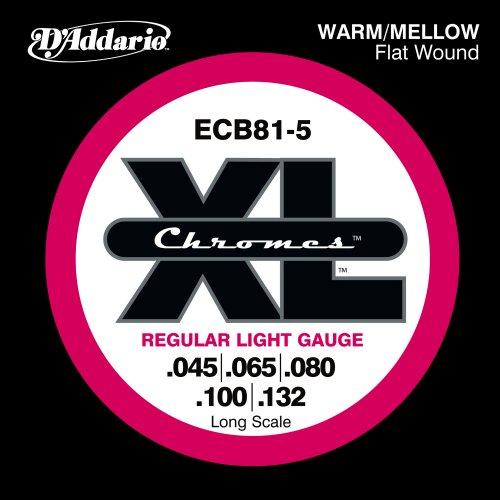 D'Addario ECB81-5 5-String Bass Guitar Strings,