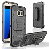 Samsung Galaxy S7 Edge / G935 Case, INNOVAA Slick Armor Holster W/ Kickstand (Not Compatible with Samsung Galaxy S7 & S7 Active) W/ Free Screen Protector & Stylus Pen - Black