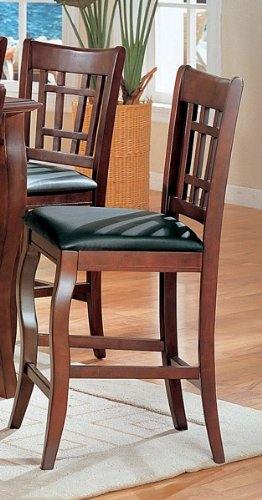 Coaster Home Furnishings 100509 Transitional Counter Height Chair, Dark Cherry/Black, Set Of 2 front-480974
