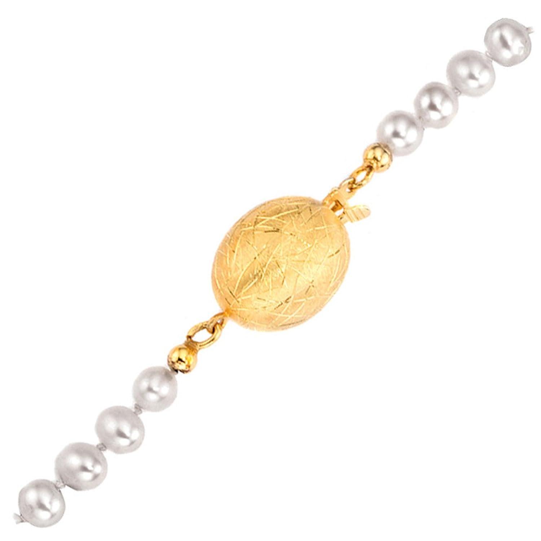 Damen Schließe 585 Gold Gelbgold eismatt als Geschenk