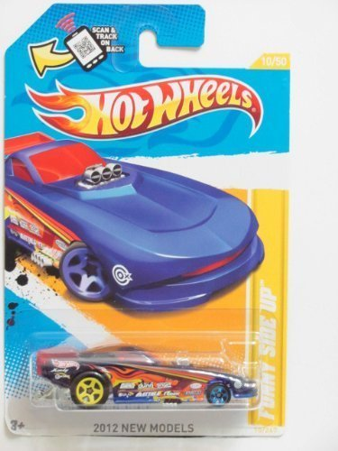Hot Wheels 2012 New Models Funny Side Up Blue #10/247 - 1