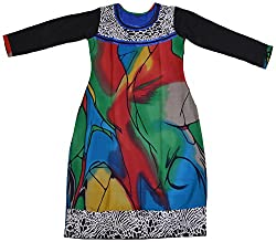 Apsara Women's Georgette Regular Fit Kurta (Multi-colored, XL)