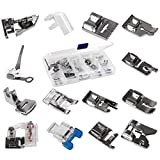 14pcs Domestic Sewing Machine Metal Presser Foot for Brother Singer Janome Toyota