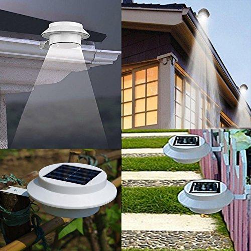 outdoor solar powered led lights wall path landscape mount. Black Bedroom Furniture Sets. Home Design Ideas