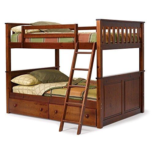 Woodcrest Pine Ridge Full over Full Bunk Bed - Chocolate