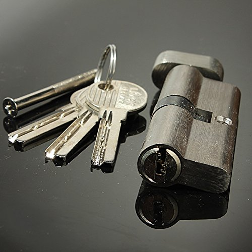 Hold Hand Locks Lock Cylinder 70Mm Brass Lock Core Practice Lock,Color Silver