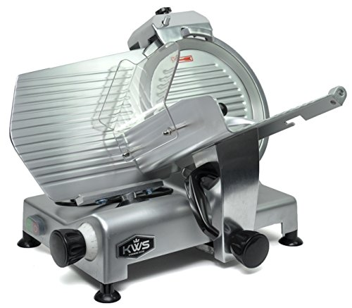 "KWS Premium Commercial 420w Electric Meat Slicer 12"" Stainless Blade, Frozen Meat/ Cheese/ Food Slicer Low Noises"