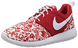 Nike Kid\'s Roshe One Print GS, UNIVERSITY RED/WHITE-BLACK, Youth Size 4
