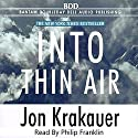 Into Thin Air Audiobook by Jon Krakauer Narrated by Philip Franklin