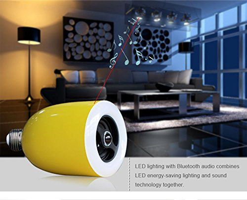 Sunrise Bll3509 Led Light Bluetooth Speaker Smart Bluetooth Music Bulb Led Bluetooth Speaker Light Bulb For Use With Apple Iphone/ Ipad/ Ipod And Android Devices