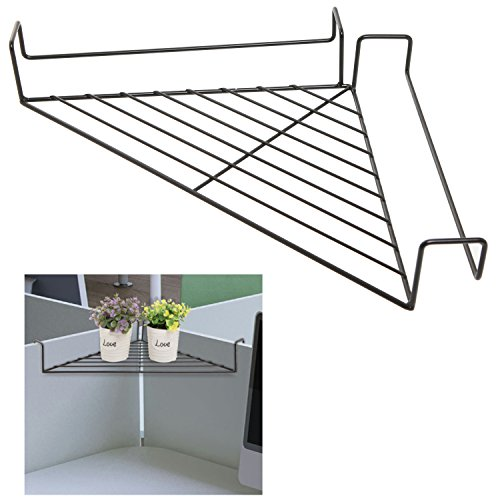 Black Modern Metal Hanging Office Cubicle Corner Shelf / Floating Cubicle Wall Organizer Display Rack (Display Cubicles compare prices)