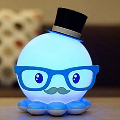 USfafa Led Bedside Lamp Octopus Model Energy-Saving Mini Night Light Desk Lamp Creative Cartoon Style Lamp