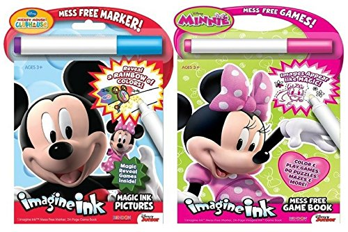 Bendon Disney Mickey Mouse Clubhouse Imagine Ink Book - And - Bendon Publishing Minnie Mouse Imagine Ink Mess Free Game Book (Disney Chalkboard Paint compare prices)