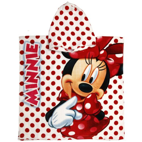 Disney Minnie Mouse Kids Hooded Towel Poncho