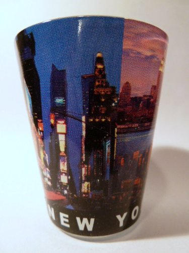 New York City Postcard 917 Shot Glass