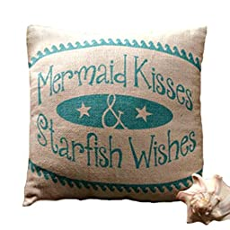 Small Mermaid Kisses Pillow (8x8\