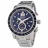 Seiko SPC135P1 Sportura Mens-Chronograph Watch, Blue Dial thumbnail