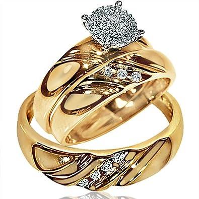 amazon wedding rings yellow gold - Wedding Rings Amazon