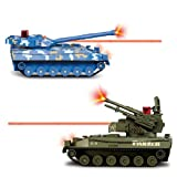 Flying Gadgets Electric Remote Control (RC) Battle Tanks with