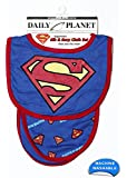 DC Superhero Bib and Burp Cloth Set for Boys and Girls, Styles Vary