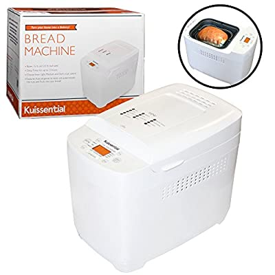 Kuissential 2-Pound Programmable Bread Machine w/ Auto Fruit and Nut Dispenser, 13 Settings (Bread Maker)