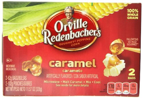Orville Redenbacher, Caramel, Microwave Popcorn, 2 Count, 11.57Oz Box (Pack Of 4)