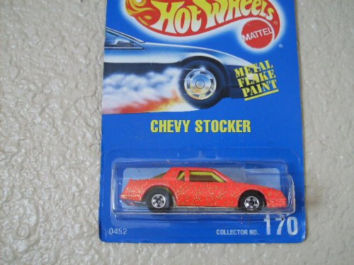 Hot Wheels Chevy Stocker All Blue Card #170 Pink Metal Flake
