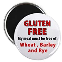ALLERGIC to GLUTEN Food Allergy Medical Alert 2.25 inch Fridge Magnet by Creative Clam