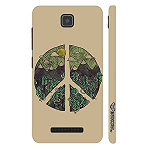 Enthopia Designer Hardshell Case Peace Out! Back Cover for Lenovo A1900