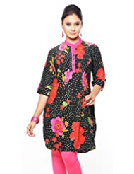 Purab Paschim Women's Cotton Printed Kurti (20280)
