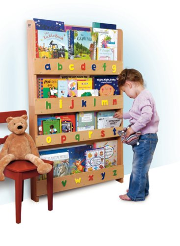 The Tidy Books Children's Bookcase - Perfect book display and storage for your children (Clear, Lowercase)