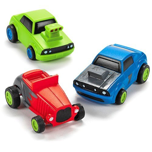 Colorful Pullback Race Cars (1 dz)