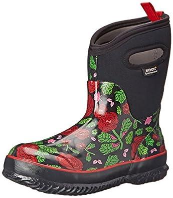 Bogs Women's Classic Rose Garden Mid Snow Boot | Amazon.com